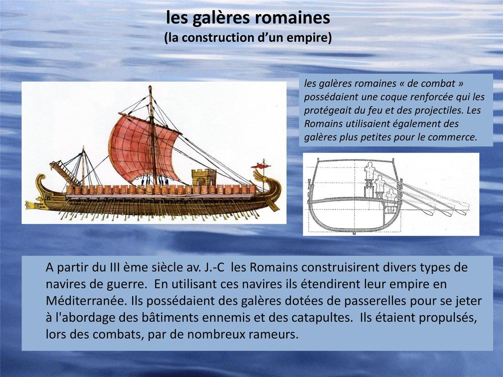 les galères romaines (la construction d'un empire)