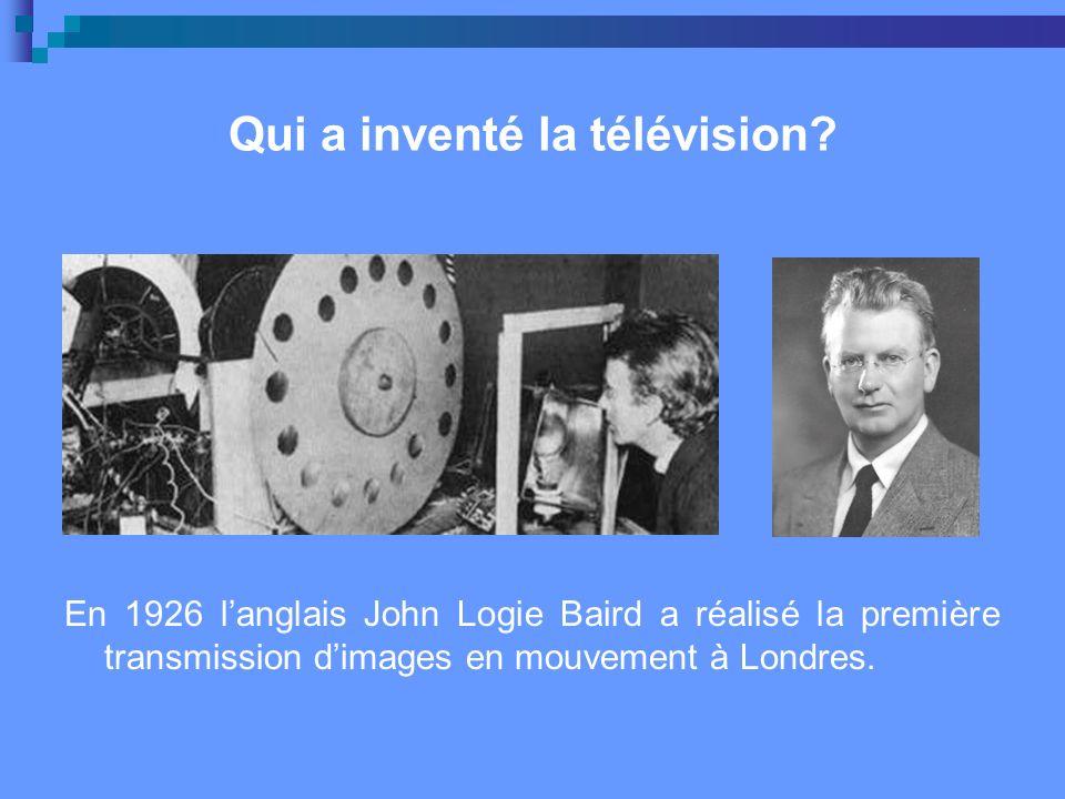 Qui a inventé la télévision