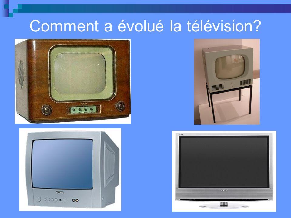 Comment a évolué la télévision