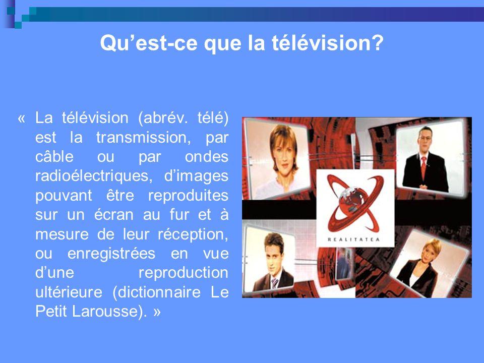 Qu'est-ce que la télévision