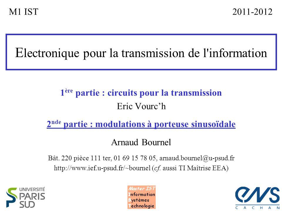 Electronique pour la transmission de l information