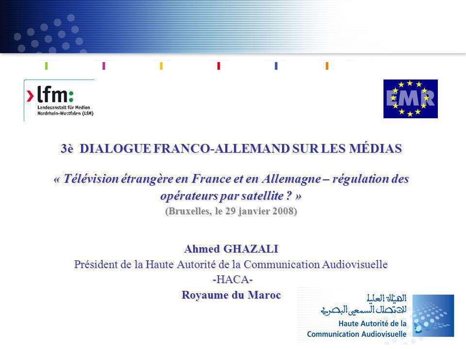 3è DIALOGUE FRANCO-ALLEMAND SUR LES MÉDIAS