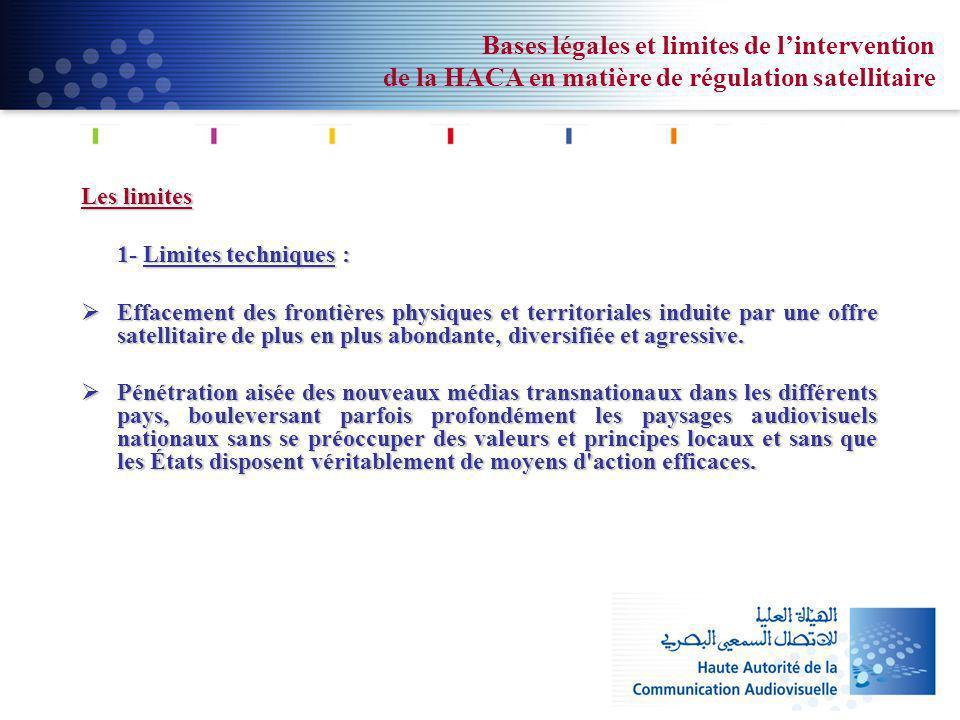 Bases légales et limites de l'intervention de la HACA en matière de régulation satellitaire