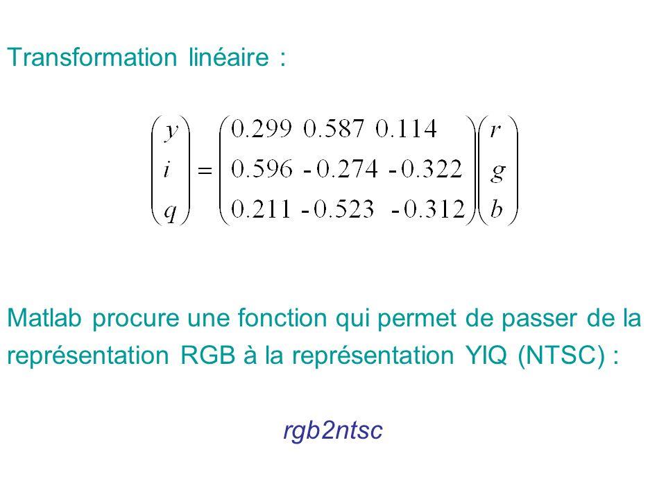 Transformation linéaire :