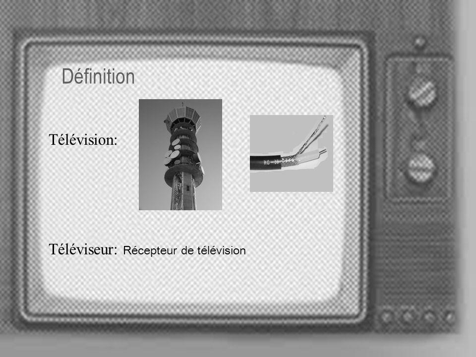 Définition Télévision: Téléviseur: Récepteur de télévision