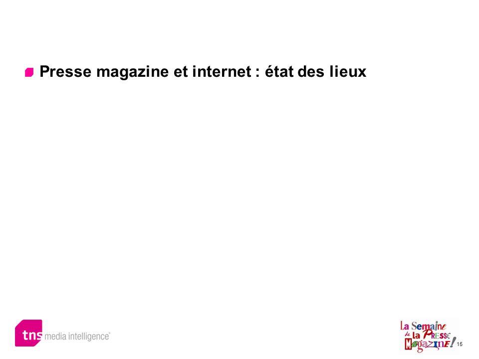 Presse magazine et internet : état des lieux