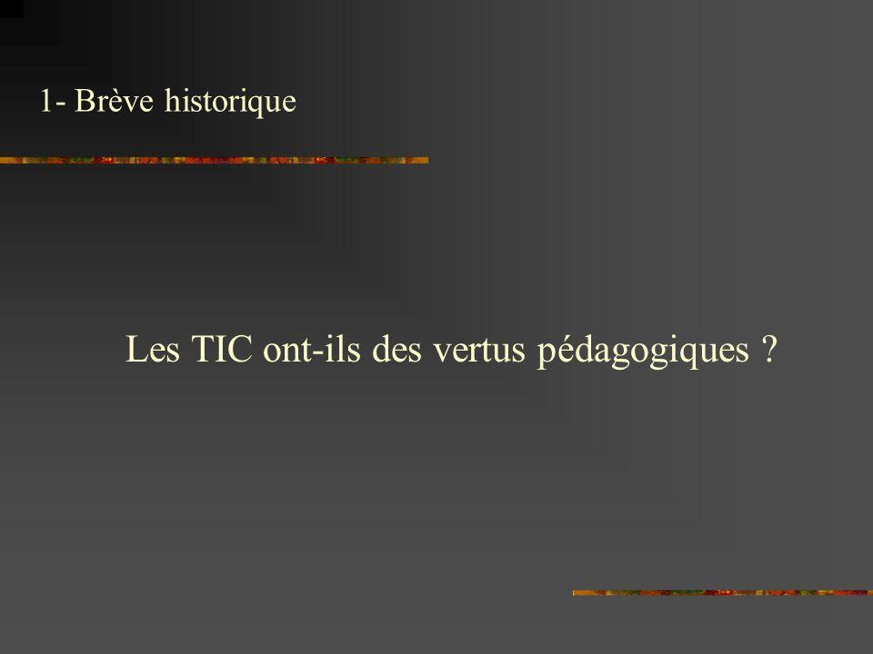Les TIC ont-ils des vertus pédagogiques