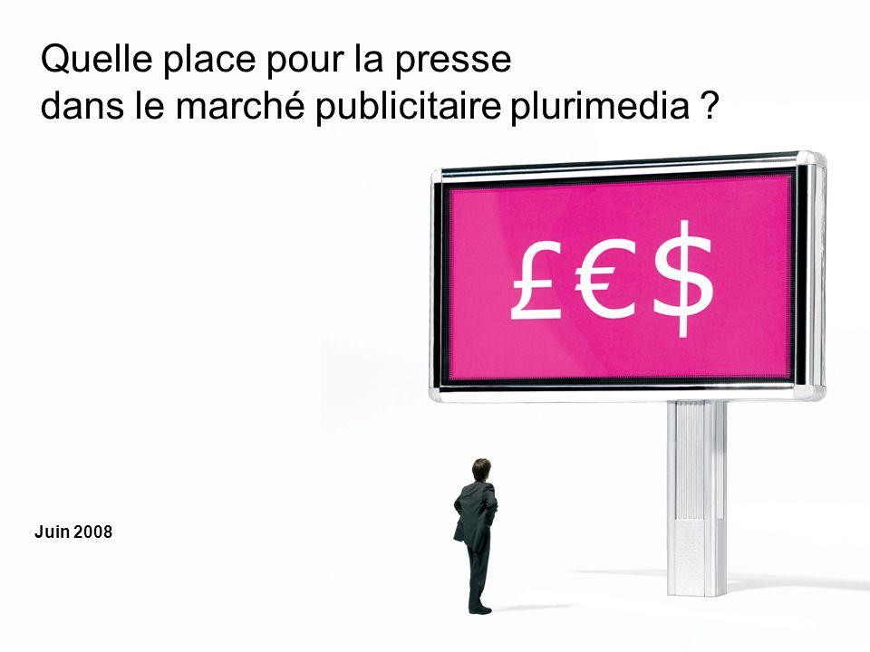 Quelle place pour la presse dans le marché publicitaire plurimedia