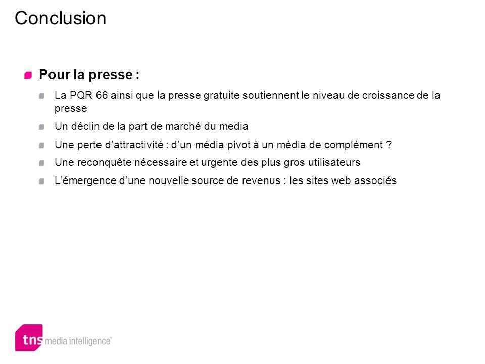 Conclusion Pour la presse :