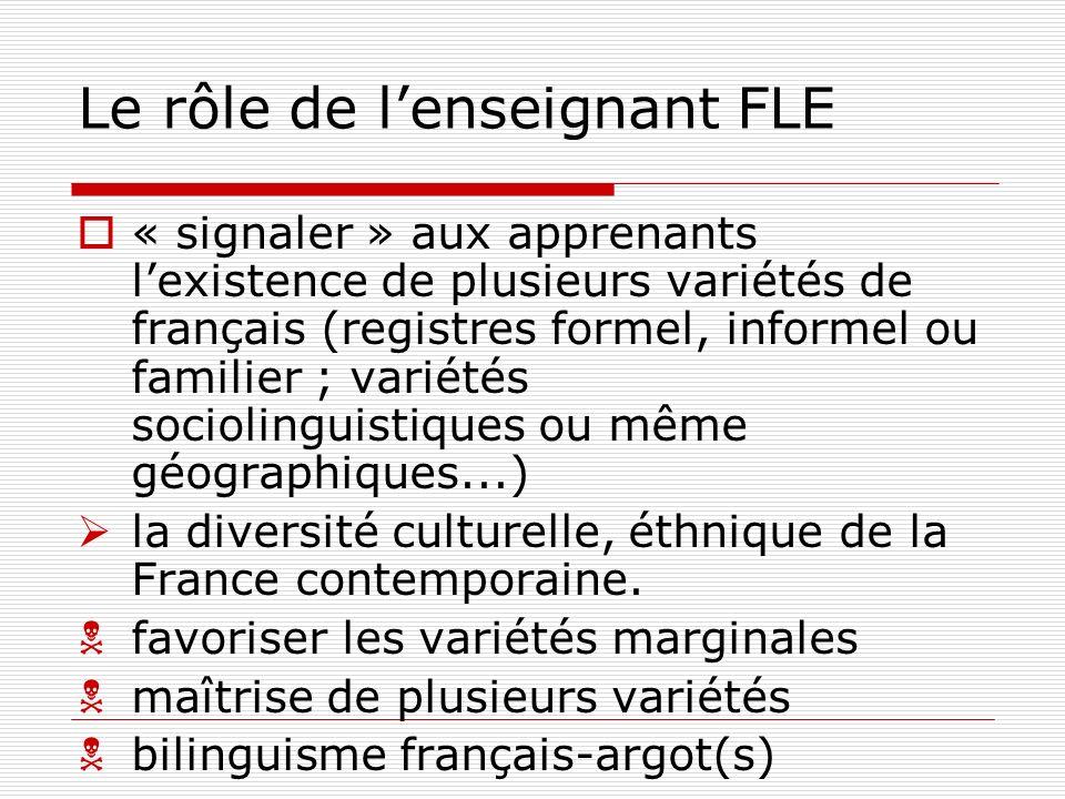 Le rôle de l'enseignant FLE