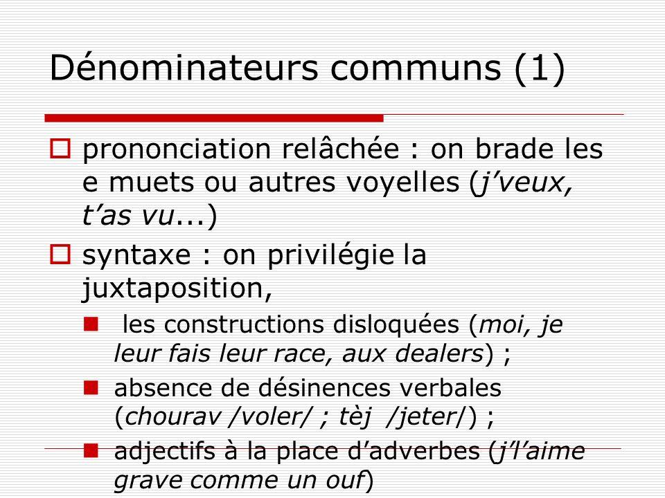 Dénominateurs communs (1)