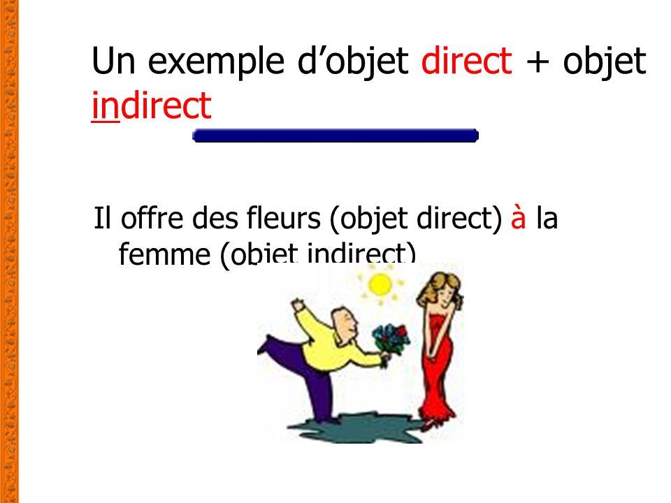 Un exemple d'objet direct + objet indirect