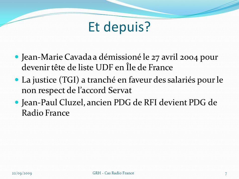 Et depuis Jean-Marie Cavada a démissioné le 27 avril 2004 pour devenir tête de liste UDF en Île de France.
