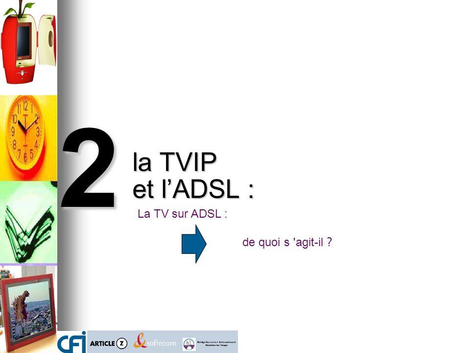 la TVIP et l'ADSL : 2 La TV sur ADSL : de quoi s agit-il