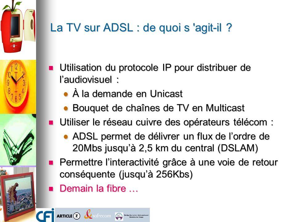 La TV sur ADSL : de quoi s agit-il