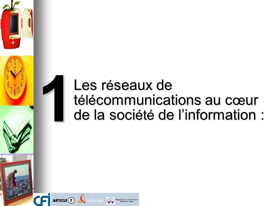 1 Les réseaux de télécommunications au cœur de la société de l'information :