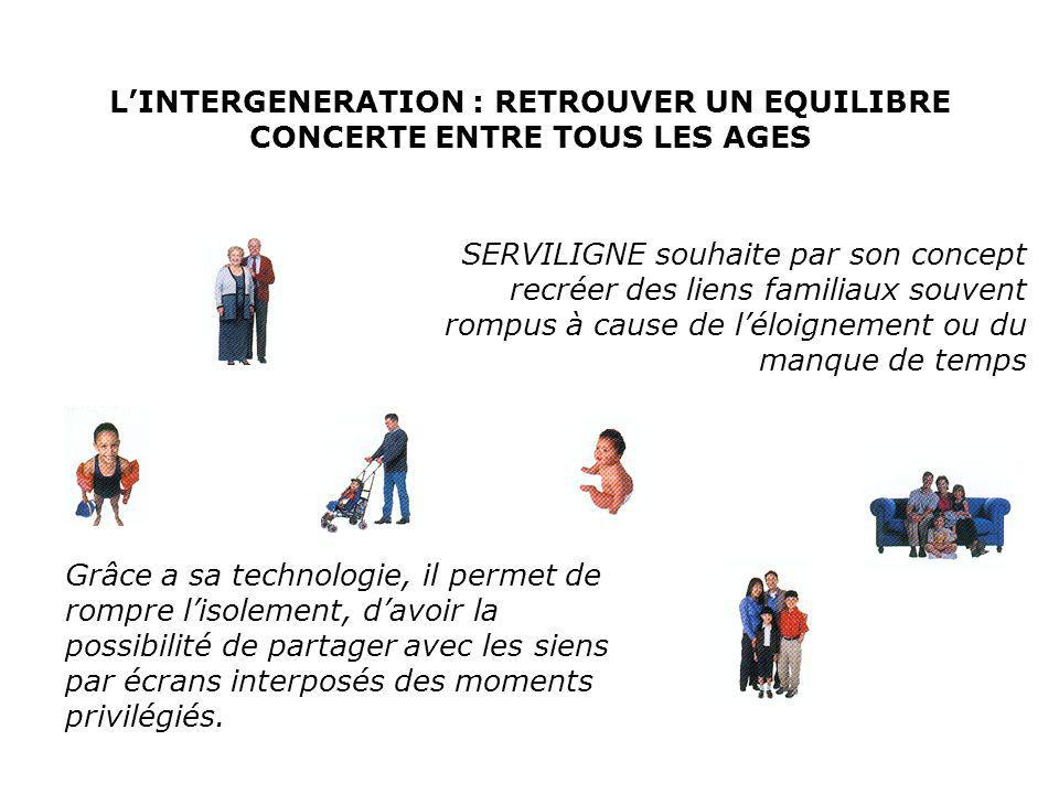 L'INTERGENERATION : RETROUVER UN EQUILIBRE CONCERTE ENTRE TOUS LES AGES