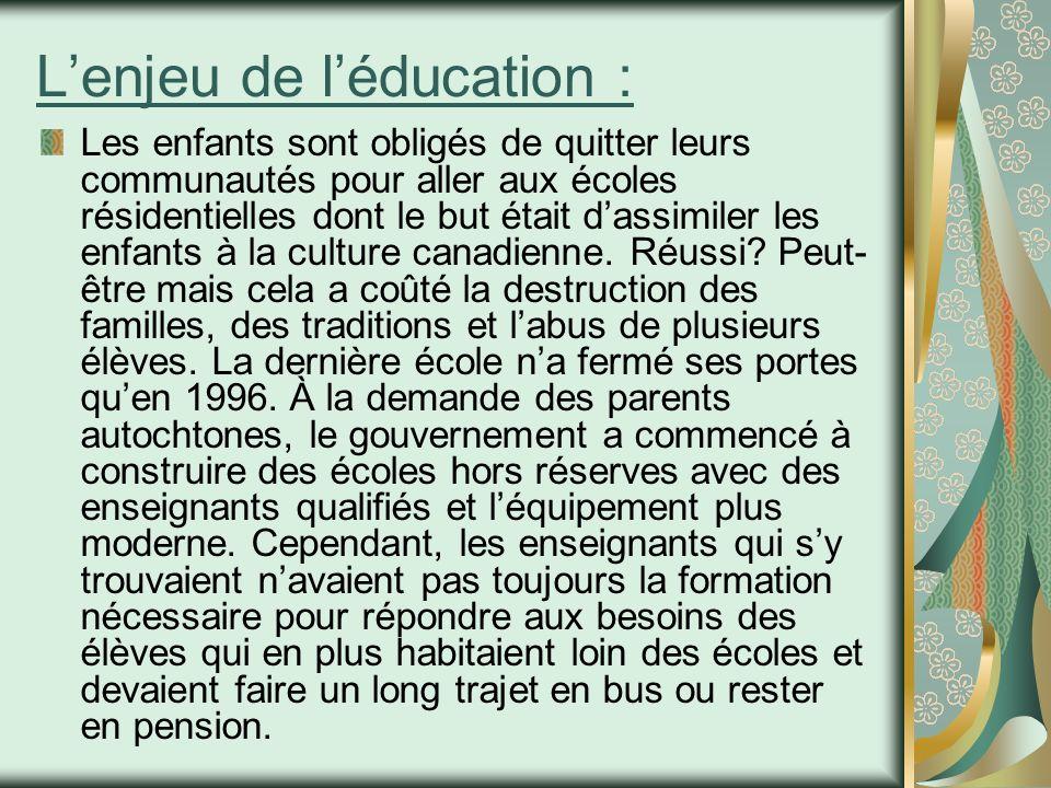 L'enjeu de l'éducation :