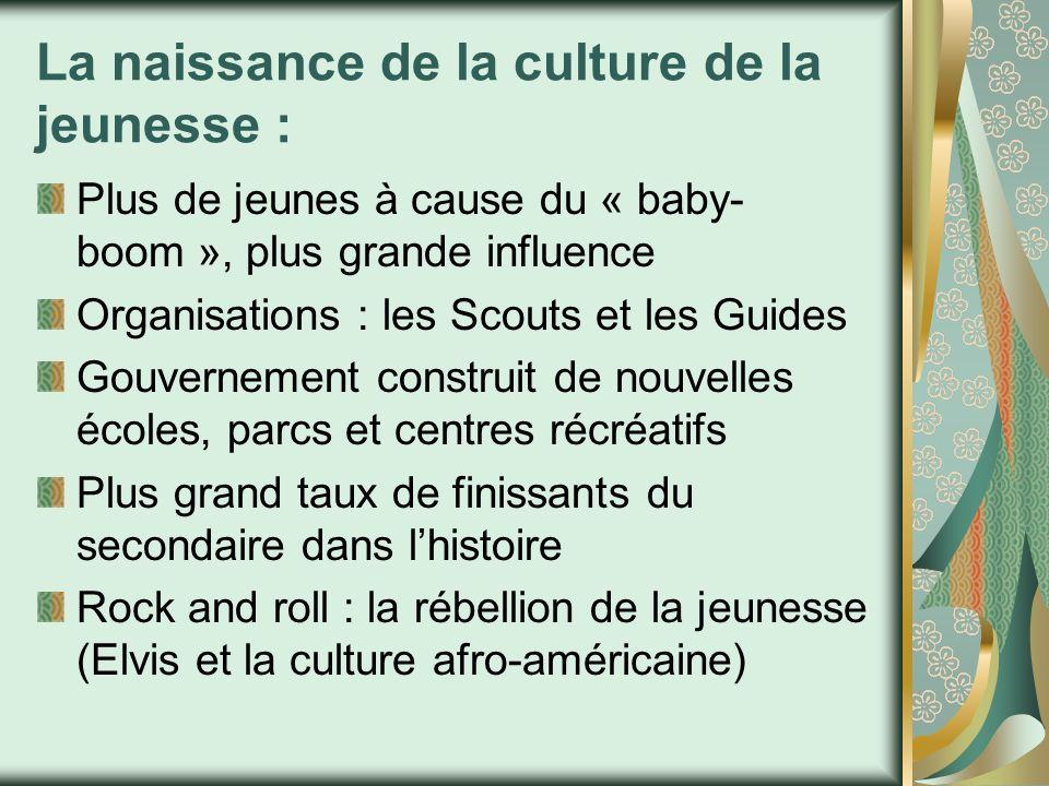 La naissance de la culture de la jeunesse :