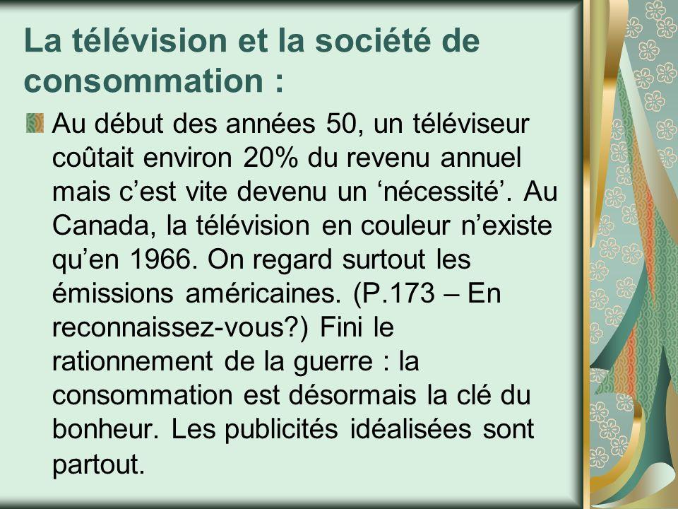 La télévision et la société de consommation :