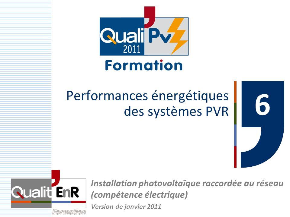 Performances énergétiques des systèmes PVR