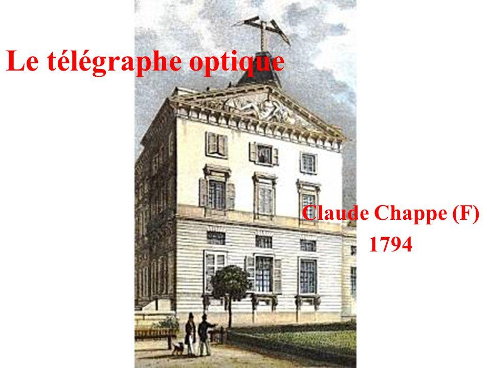 Le télégraphe optique Claude Chappe (F) 1794