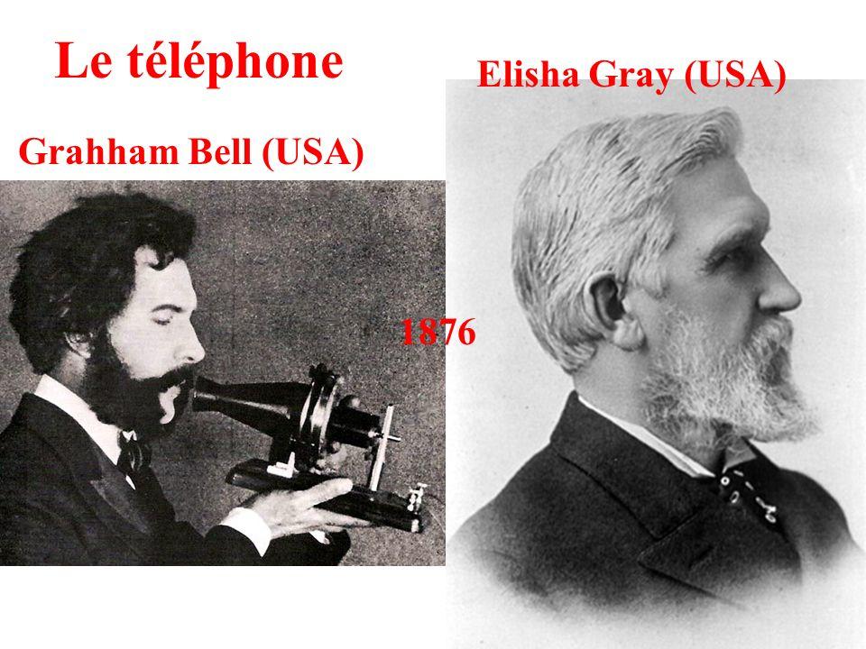Le téléphone Elisha Gray (USA) Grahham Bell (USA) 1876
