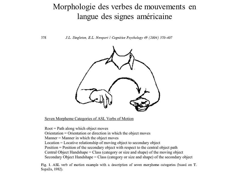 Morphologie des verbes de mouvements en langue des signes américaine