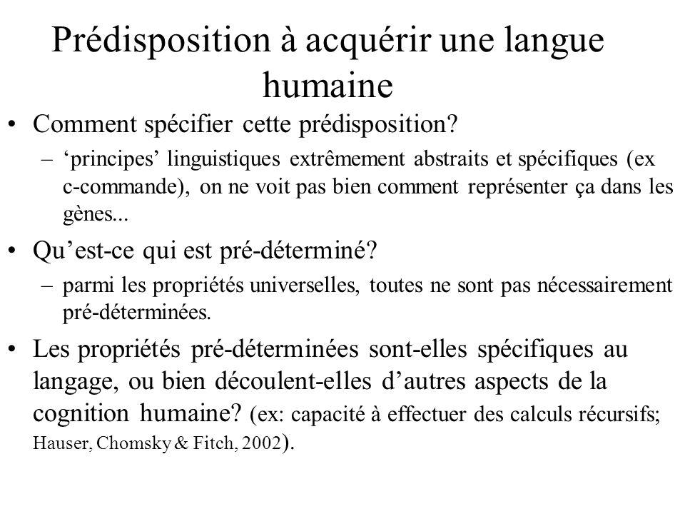Prédisposition à acquérir une langue humaine