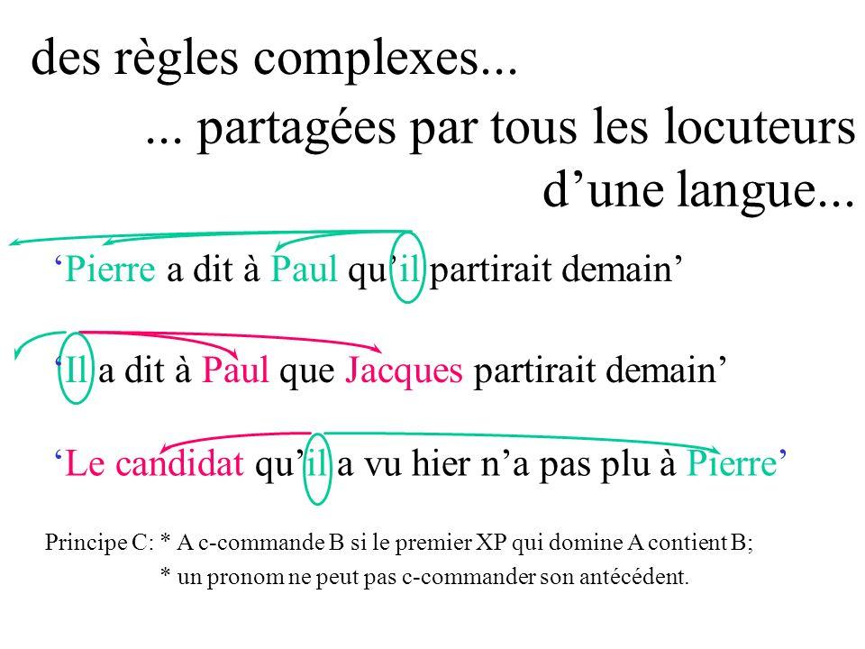 ... partagées par tous les locuteurs d'une langue...