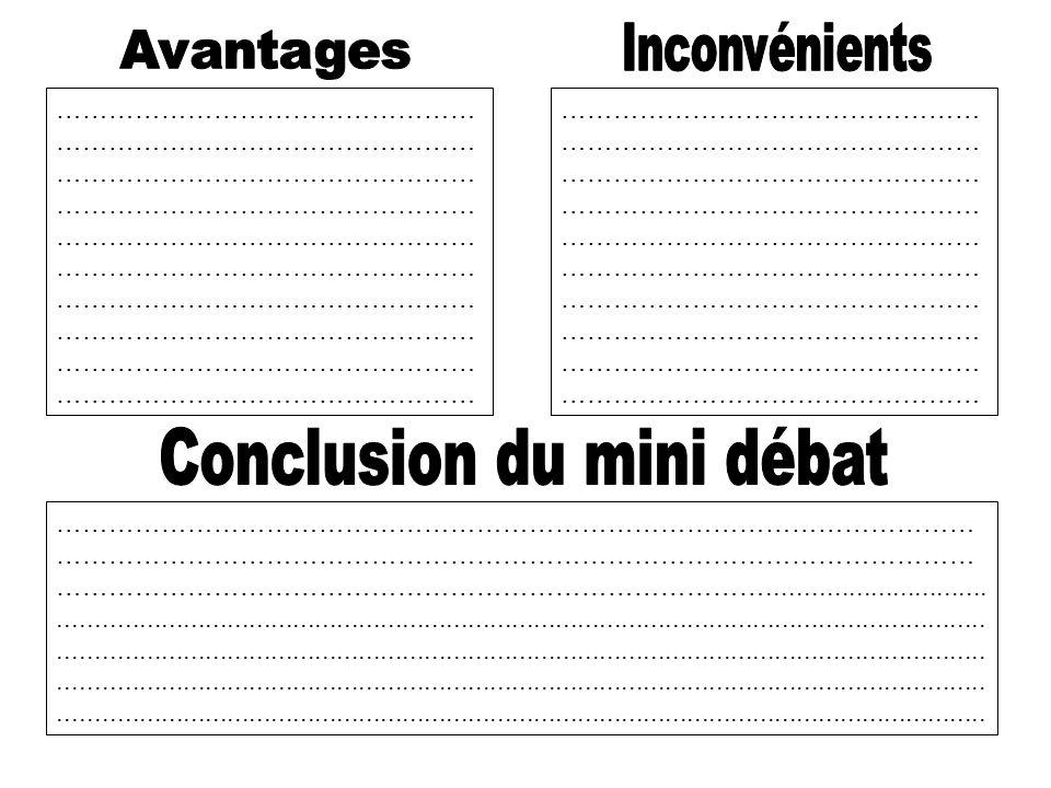 Conclusion du mini débat