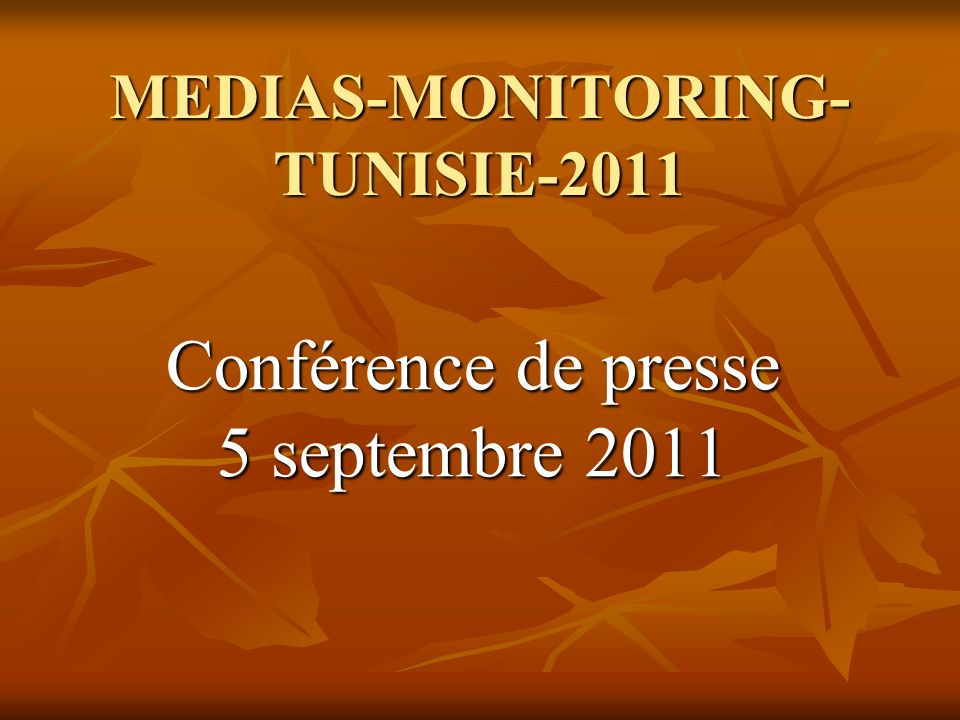 MEDIAS-MONITORING-TUNISIE-2011