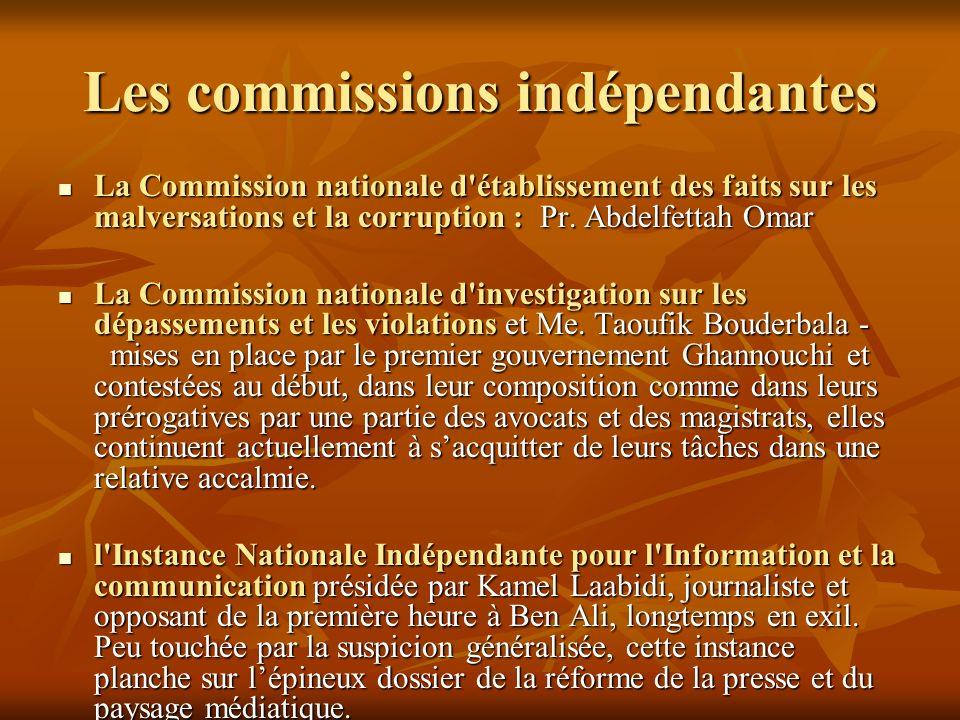 Les commissions indépendantes
