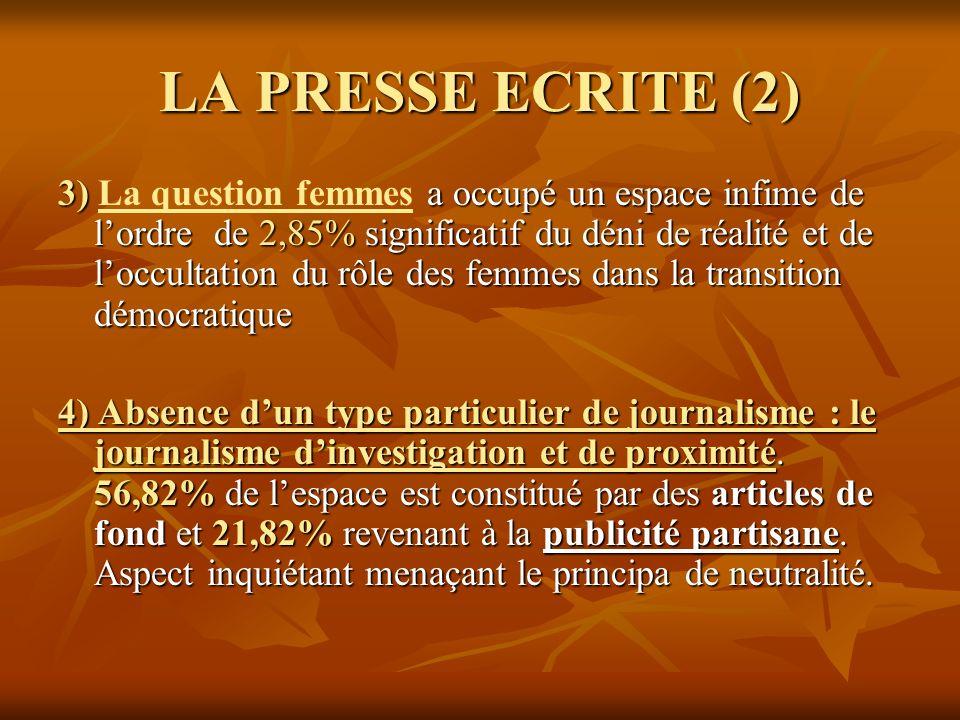 LA PRESSE ECRITE (2)