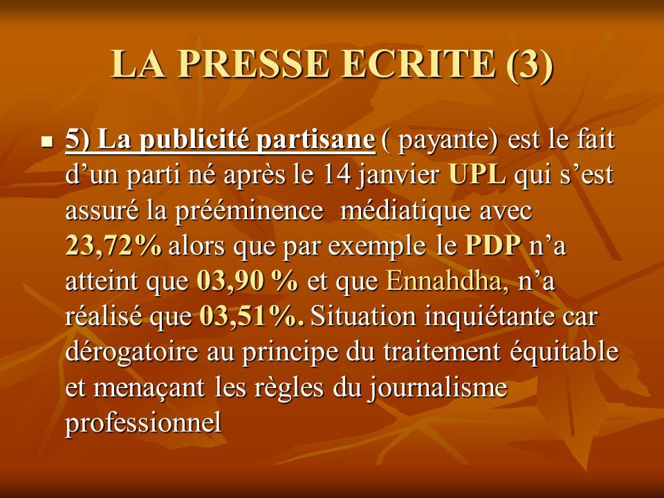LA PRESSE ECRITE (3)