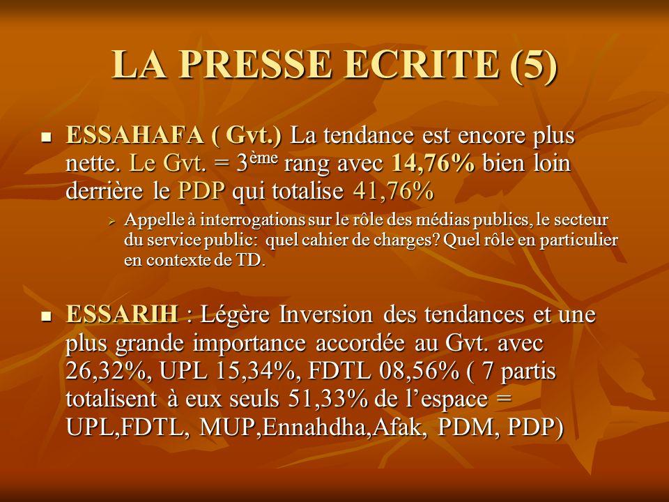 LA PRESSE ECRITE (5)