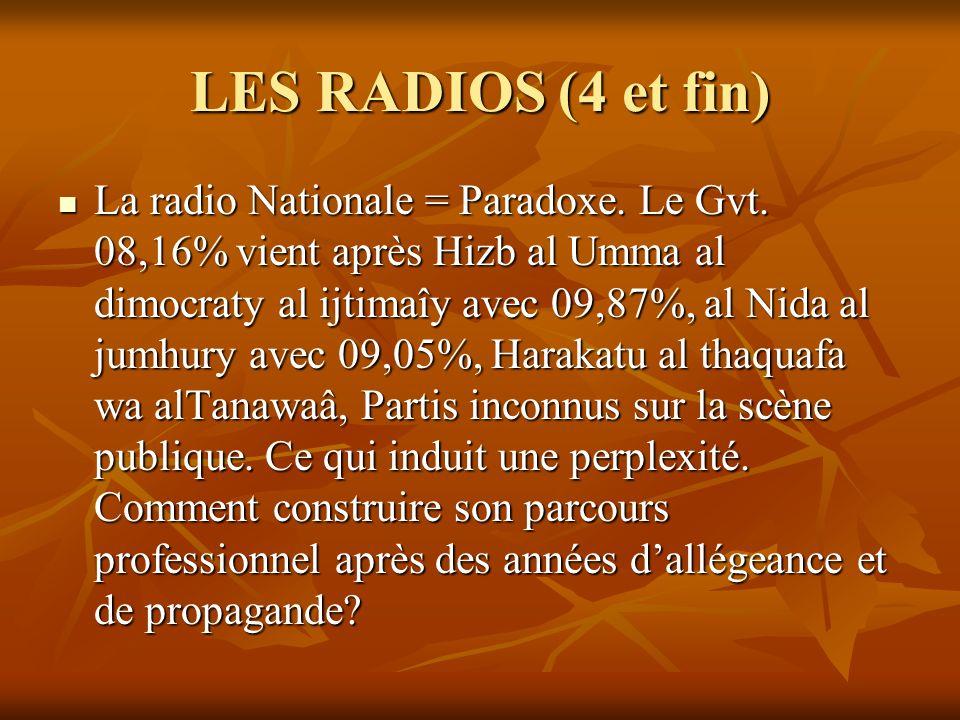 LES RADIOS (4 et fin)