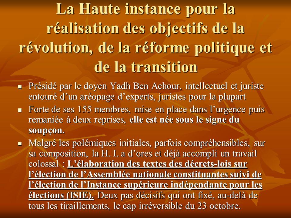 La Haute instance pour la réalisation des objectifs de la révolution, de la réforme politique et de la transition