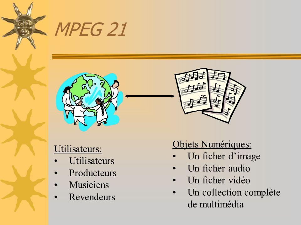 MPEG 21 Objets Numériques: Utilisateurs: Un ficher d'image