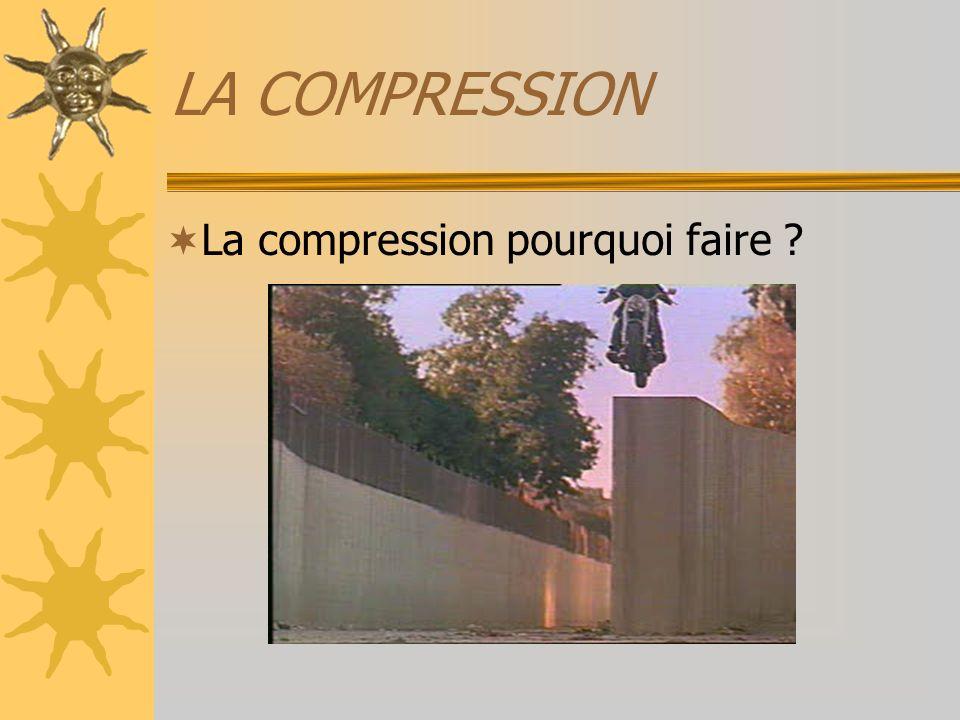 LA COMPRESSION La compression pourquoi faire
