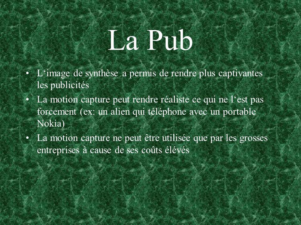 La Pub L'image de synthèse a permis de rendre plus captivantes les publicités.