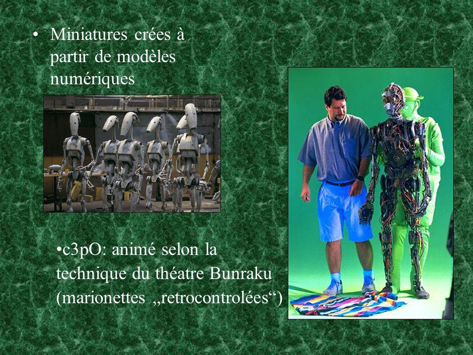 Miniatures crées à partir de modèles numériques
