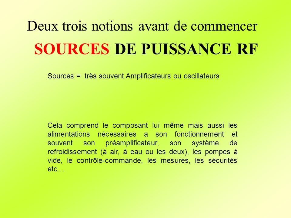 SOURCES DE PUISSANCE RF