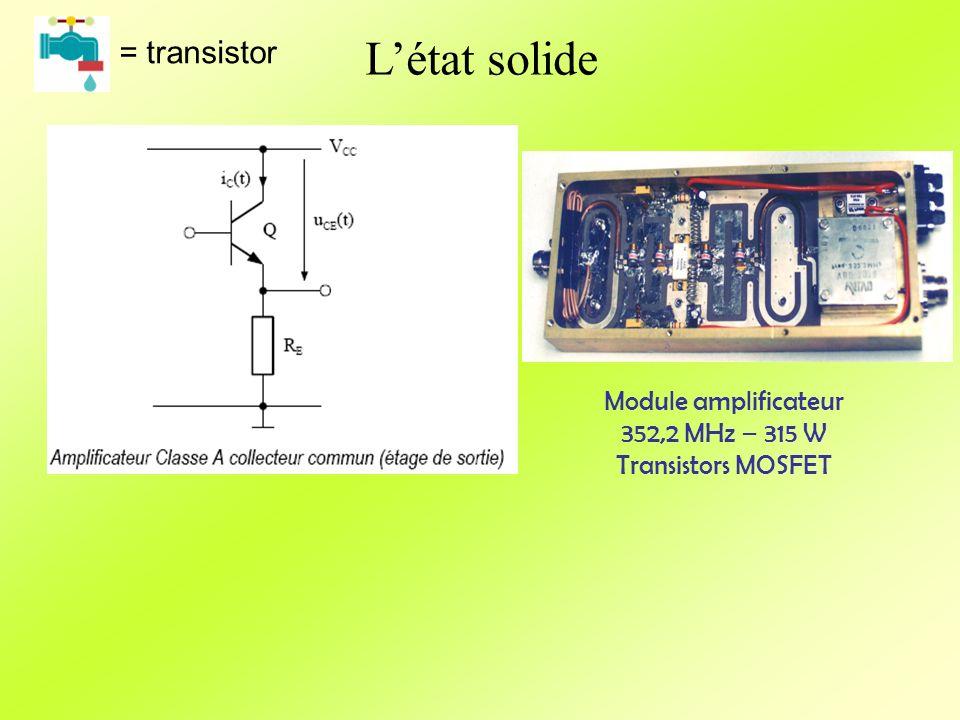 L'état solide = transistor Module amplificateur 352,2 MHz – 315 W