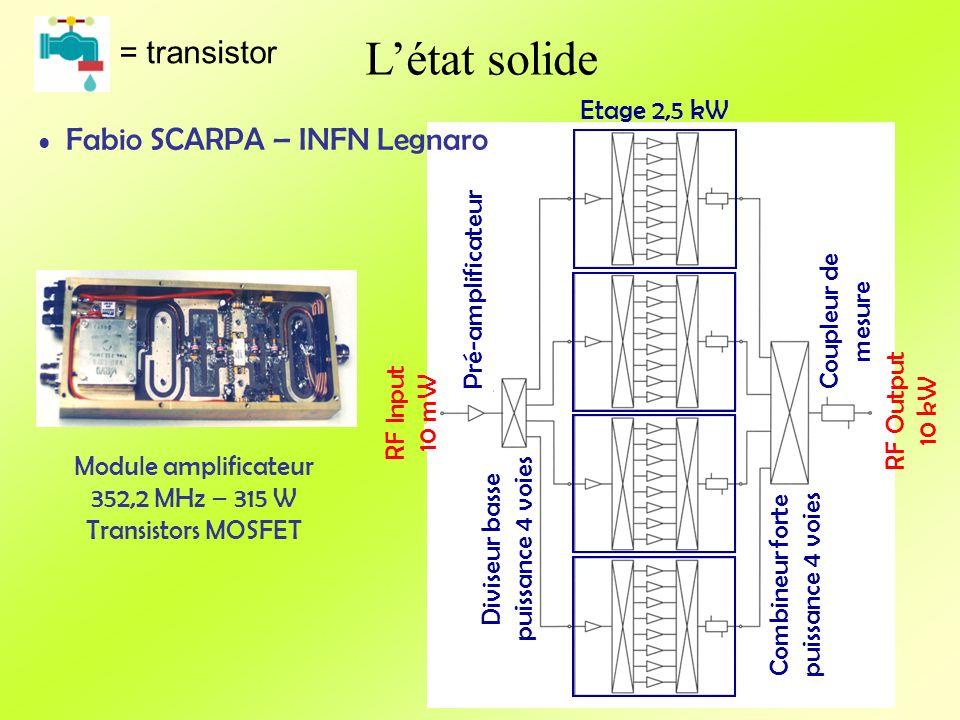 L'état solide = transistor Fabio SCARPA – INFN Legnaro Etage 2,5 kW