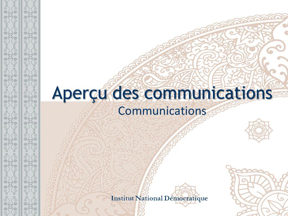 Aperçu des communications Communications