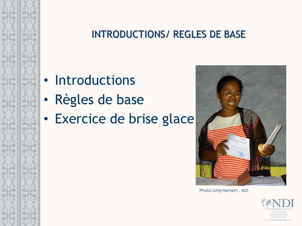 Introductions/ REGLES DE BASE