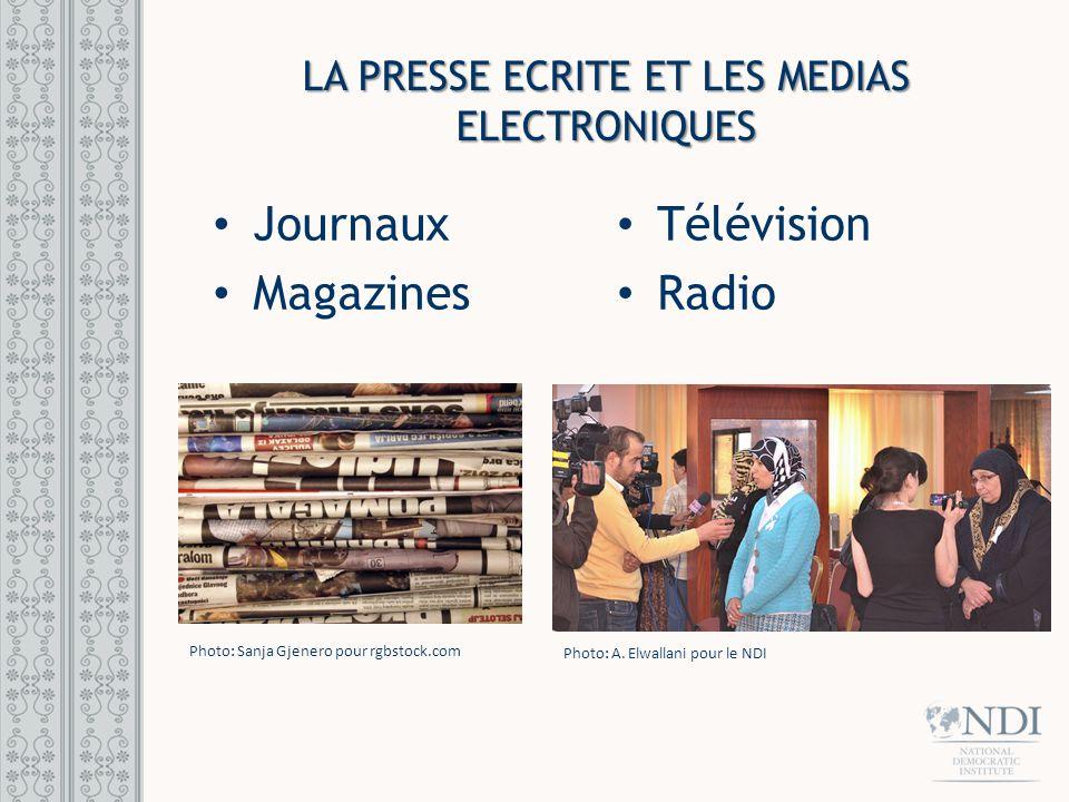 LA PRESSE ECRITE ET LES MEDIAS ELECTRONIQUES