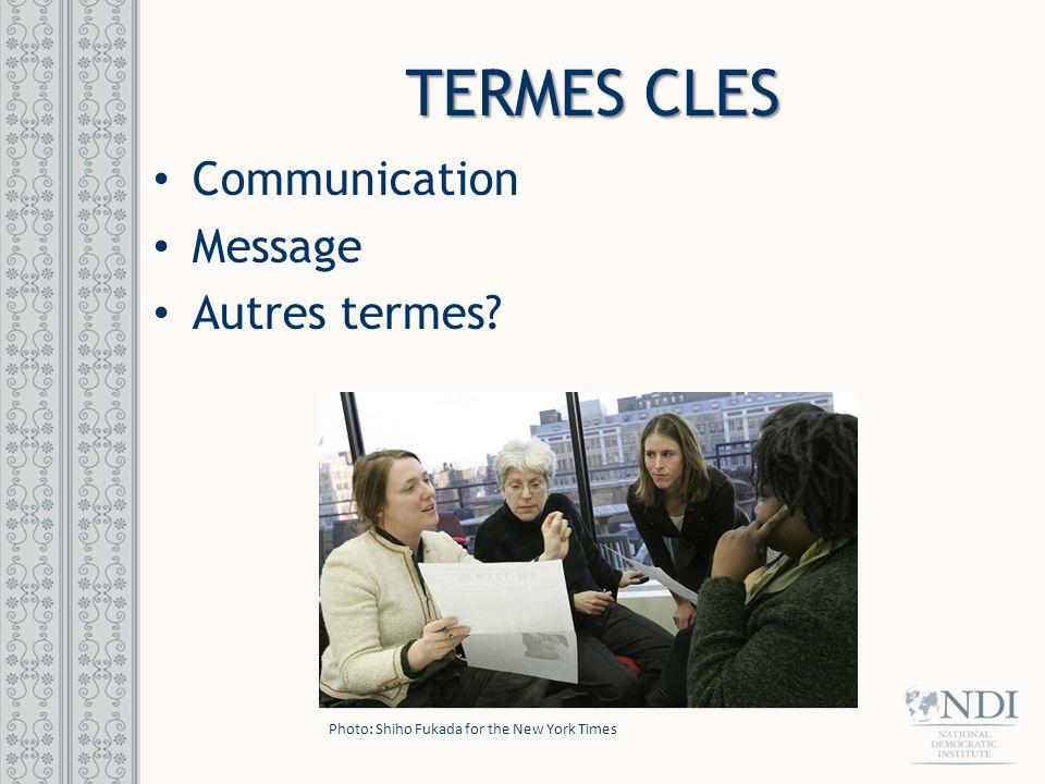 Termes cles Communication Message Autres termes