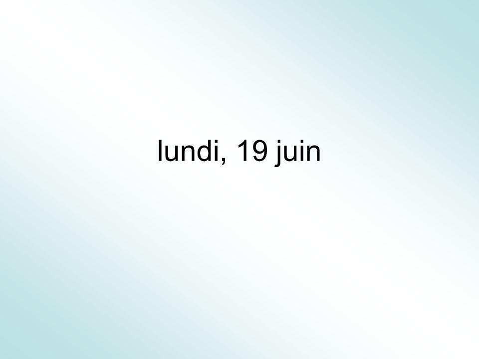 lundi, 19 juin
